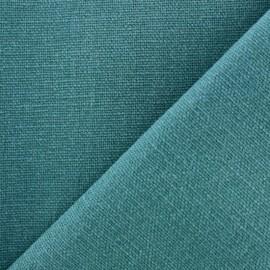 Tissu toile de coton uni Demi Natté Vintage - emeraude x 10cm