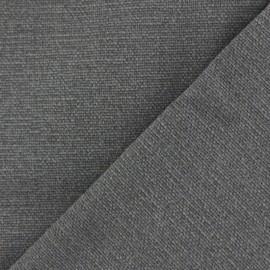 Tissu toile de coton uni Demi Natté Vintage - éléphant x 10cm