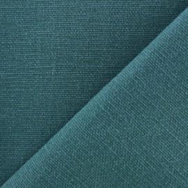 Tissu toile de coton uni Demi Natté Vintage - canard x 10cm