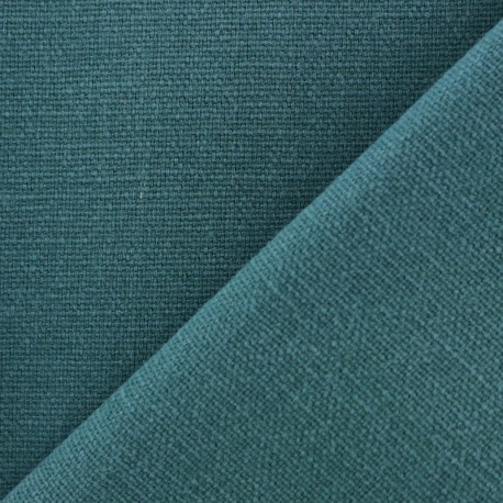 Cotton fabric half braided Vintage - petrol blue x 10cm