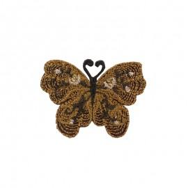 Thermocollant brodé Ornement papillon - marron