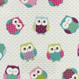 Coated Cotton Fryett's Owls  - multicolor x 10cm