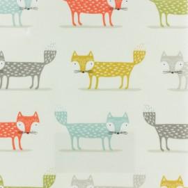 Tissu enduit de coton Fryett's Foxy - multicolore x 10cm