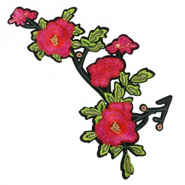 Old School Flower giant iron on patch  - rose