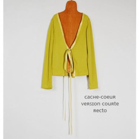Petit cache-coeur children's sewing pattern from Coupé-Couzu - multicolored