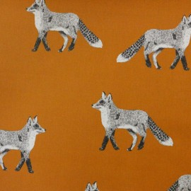 Coated Cotton Nature Fox - orange x 15cm