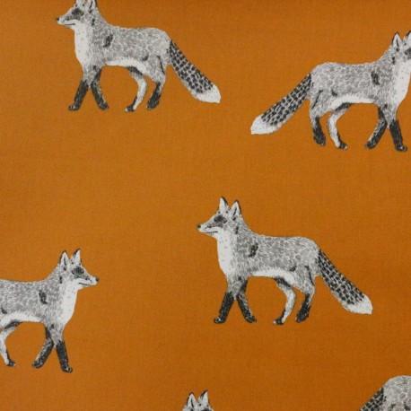 Coated Cotton Nature Fox - orange x 15cm