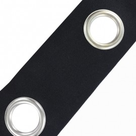 To sew color eyelet tape - black x 18cm