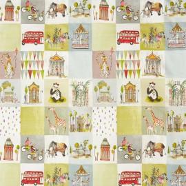 Tissu toile de coton My World Marshmallow - multicolore x 80cm