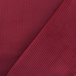 Ribbed velvet fabric - red x 10cm