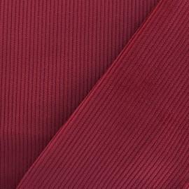 Tissu velours 500 raies - rouge x10cm