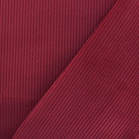 Ribbed velvet fabric - red x 10cm