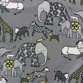 Savana Oeko-Tex Jersey fabric - grey  x 10cm