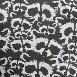 Tissu Oeko-Tex sweat léger Raccoon - gris x 10cm