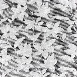 Baroque Floral Jersey jacquard fabric - grey and black x 10cm