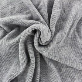 Tissu Maille milleraies - gris x 10cm