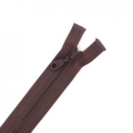 Fermeture Eclair® séparable synthétique moulée - chocolat