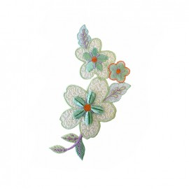 Thermocollant Old School Flower pastel - vert