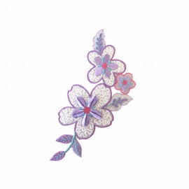Thermocollant Old School Flower pastel - violet
