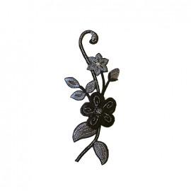 Thermocollant brodé Noël floral - noir