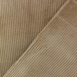 Tissu velours 500 raies - châtain x10cm