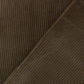 Ribbed velvet fabric - chocolate x 10cm