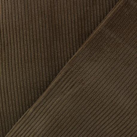 Tissu velours côtelé - Cacao x10cm