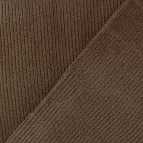 Tissu velours côtelé - chocolat x10cm