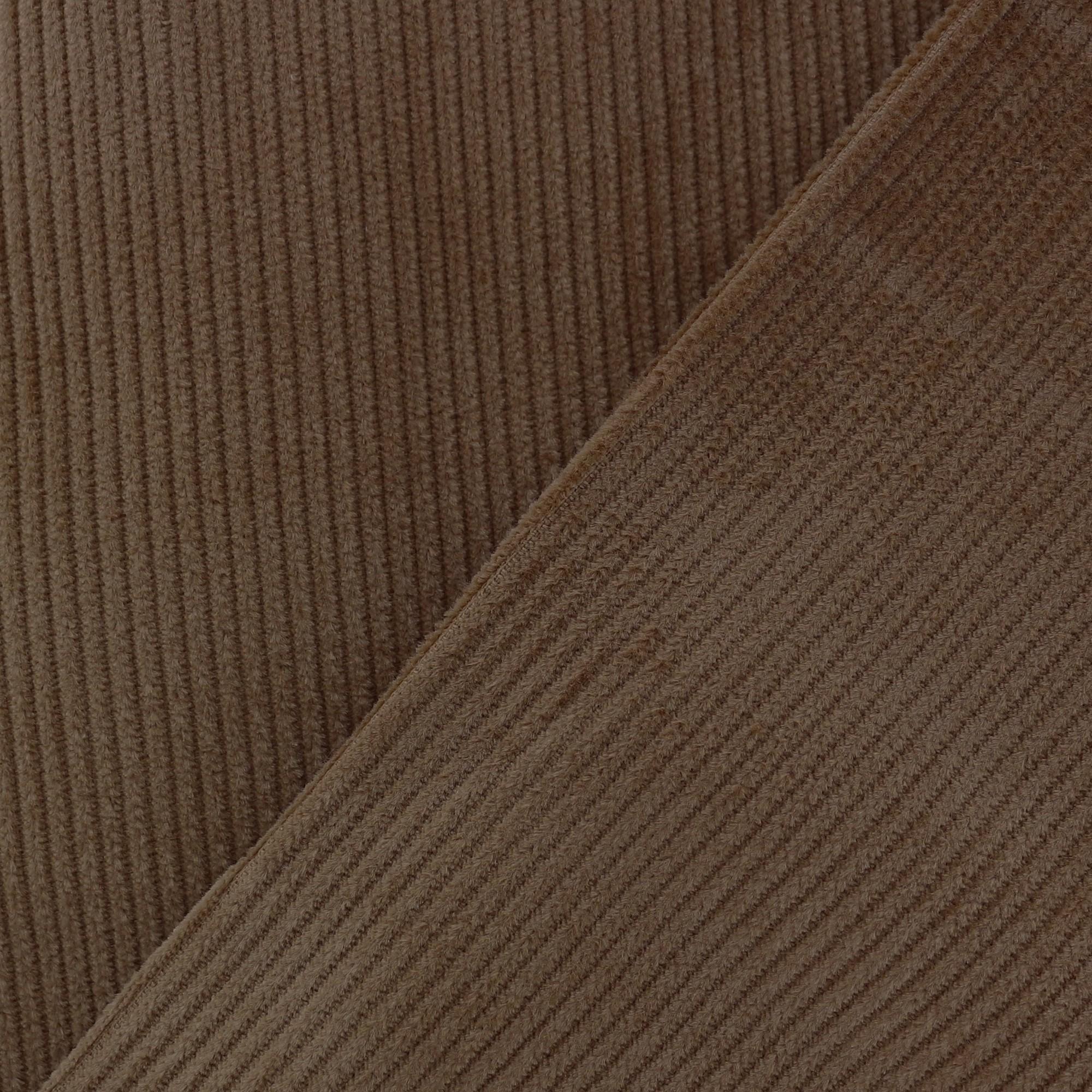 Tissu 500 Chocolat X10cm Velours Raies JF15ulKTc3