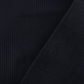 Tissu velours côtelé - bleu marine x10cm