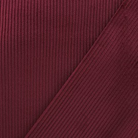 Ribbed velvet fabric - bordeaux x 10cm