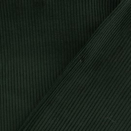 Ribbed velvet fabric - pine green x 10cm