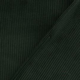 Tissu velours côtelé - vert sapin x10cm