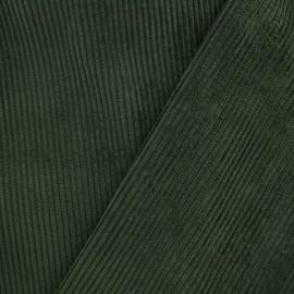 Tissu velours côtelé - vert épinard x10cm