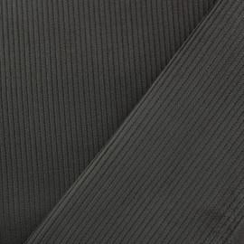 Tissu velours côtelé - anthracite x10cm