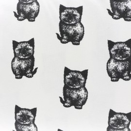 Minouchat Organic Oeko-Tex Jersey fabric - white x 10cm