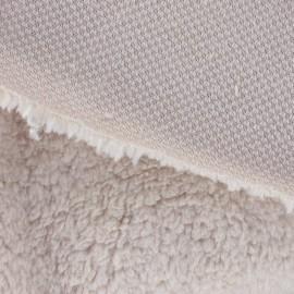 Fourrure mouton beige clair