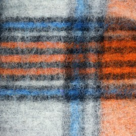 Scotland Woolen jersey fabric - orange x 20cm
