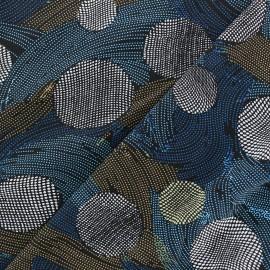 Tissu Crêpe Turning around - bleu x 10cm