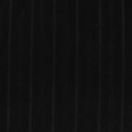 Tissu Tailleur Rayé Lady - Noir x 10cm