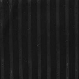 Tissu Tailleur Rayé Times - Noir x 10cm