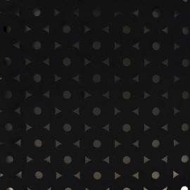 Tissu Néoprène / Scuba ajouré Flower - noir x 10cm