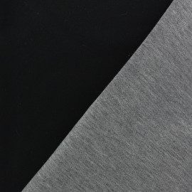 Neoprene /jersey viscose fabric - black/grey 10cm