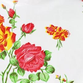 Oilcloth fabric Rosedal - white x 45cm