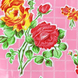 Oilcloth fabric Rosedal - pink x 45cm