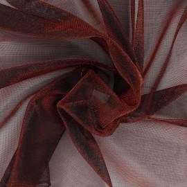 Tissu voile lurex - rouge métallisé x 10cm
