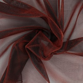 Lurex Veil Fabric - metallic red x 10cm