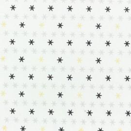 Tissu coton Christmas stars - blanc x 10cm