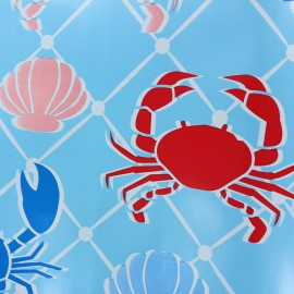 Tissu toile cirée Fruits de mer - bleu x 37cm