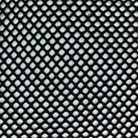 Tissu filet / maille ajourée - noir x 10cm